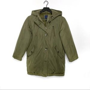 GAP Kids Girls Warmest Puffer Parka Olive Coat
